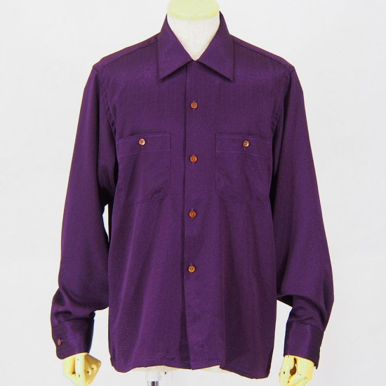 South2 West8One-up ShirtPoly JacquardFloret / Purple