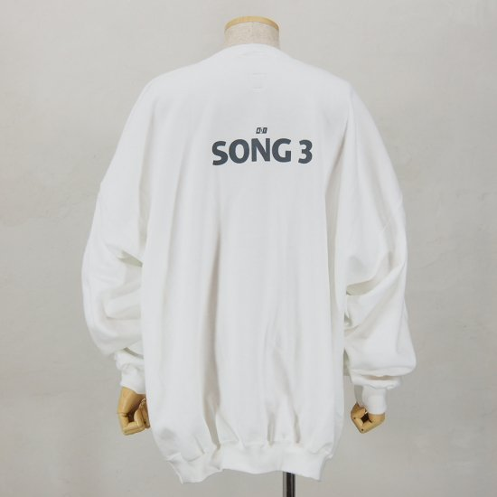 AiEBig Crew Neck SweatSong 3White