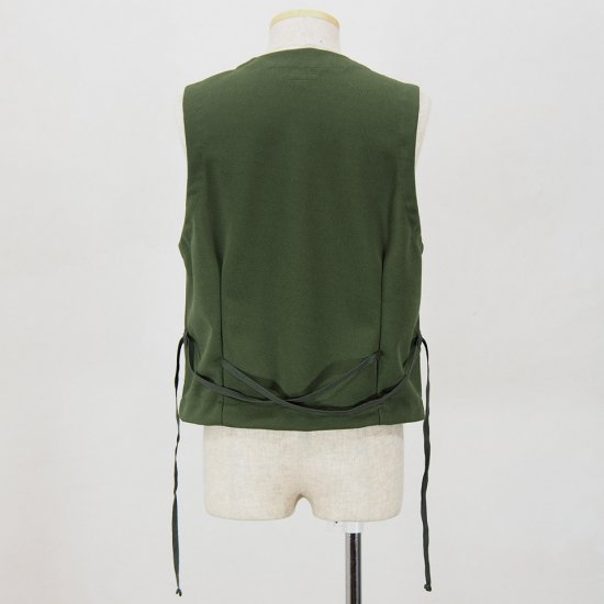 Engineered Garments エンジニアドガーメンツ - Knit Vest - Diamond Knit - Olive