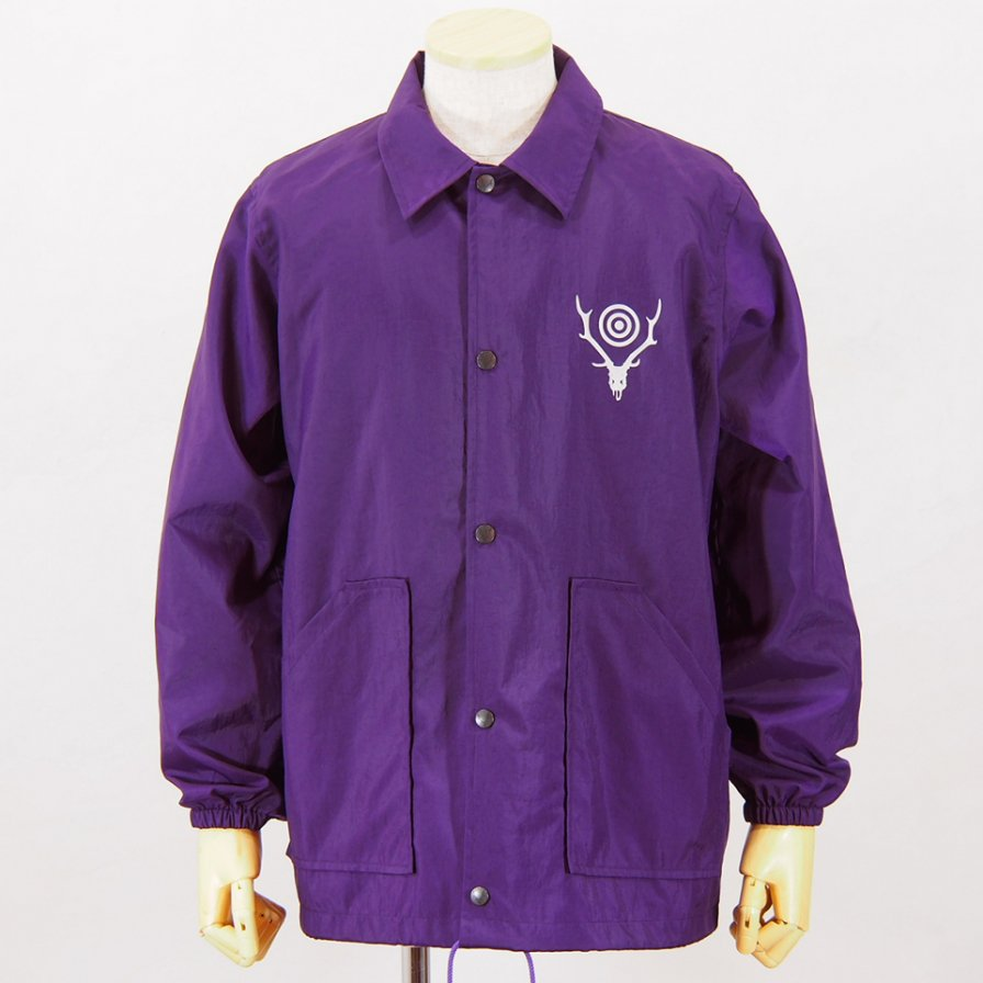 South2 West8Coach JacketNylon Oxford / AcrylicPurple