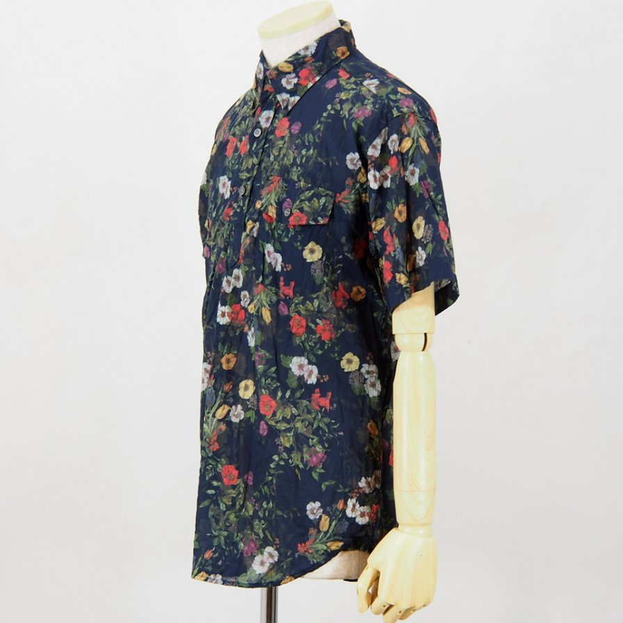 Engineered GarmentsPop Over BD ShirtFloral SheetingDk.Navy