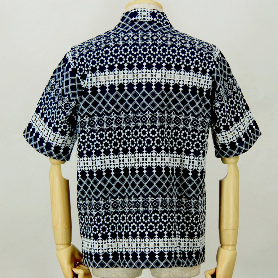 NeedlesCabana ShirtCotton Cloth / Rayon EmbNavy