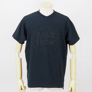 Engineered GarmentsPrinted Cross Crew Neck T-ShirtLove & MusicDk.Navy