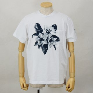 Engineered GarmentsPrinted Cross Crew Neck T-ShirtFloralWhite