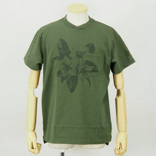 Engineered GarmentsPrinted Cross Crew Neck T-ShirtFloralOlive