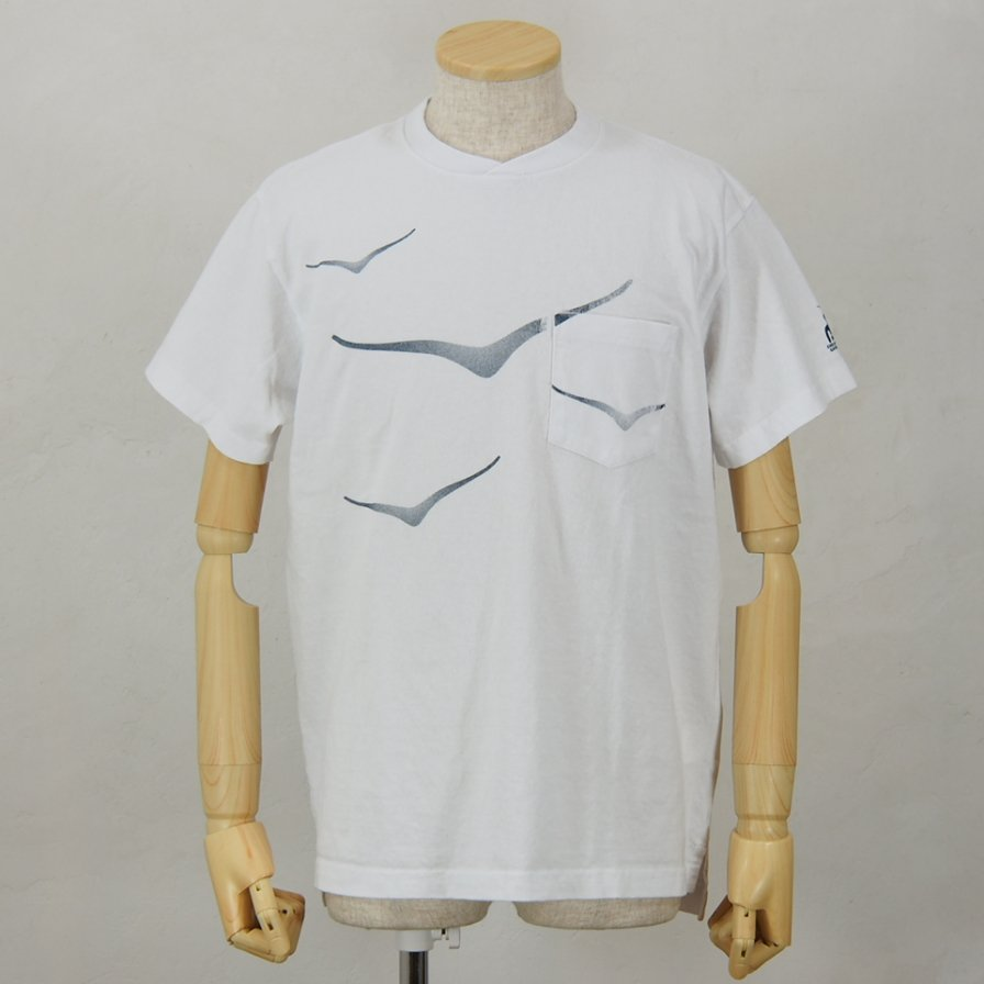 Engineered GarmentsPrinted Cross Crew Neck T-ShirtHokaWhite