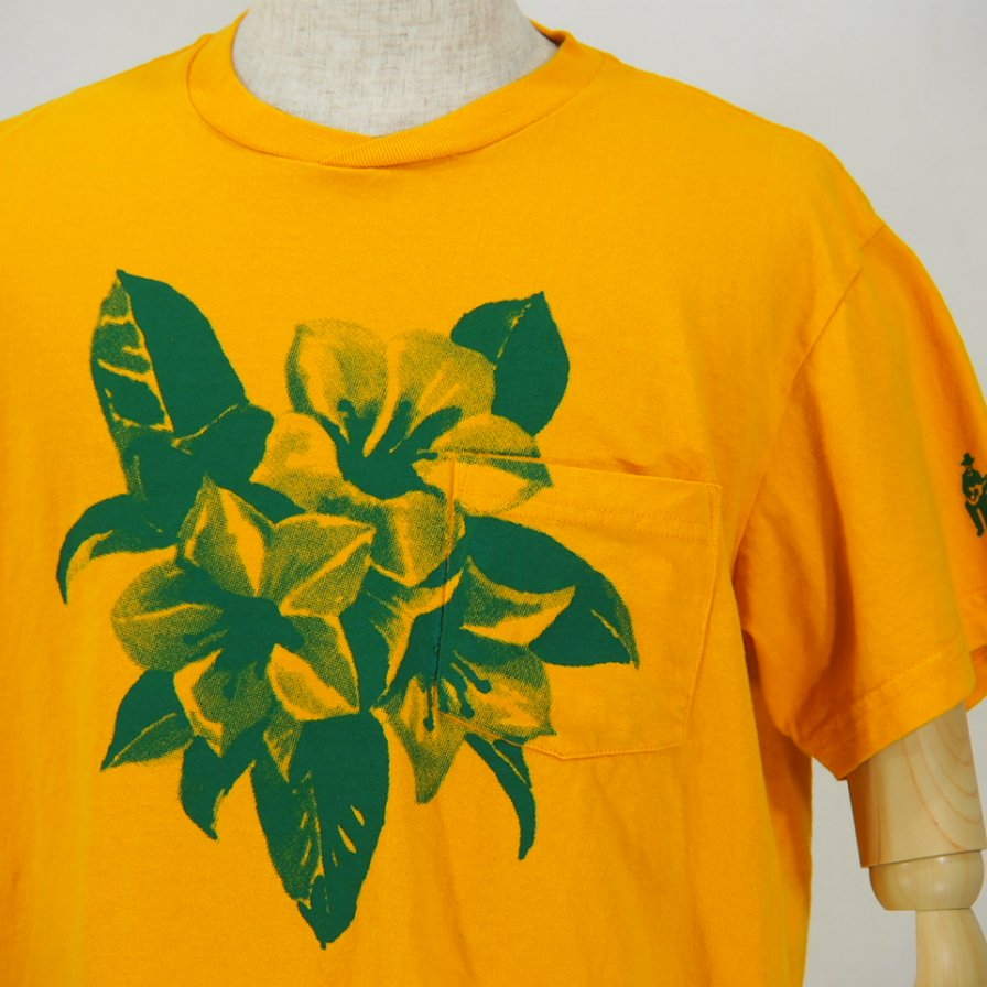 Engineered GarmentsPrinted Cross Crew Neck T-ShirtFloralYellow