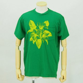 Engineered GarmentsPrinted Cross Crew Neck T-ShirtFloralKelly