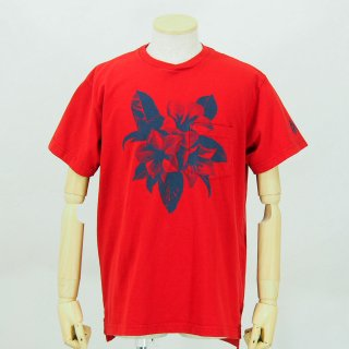 Engineered GarmentsPrinted Cross Crew Neck T-ShirtFloralRed