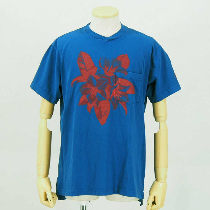 Engineered GarmentsPrinted Cross Crew Neck T-ShirtFloralRoyal