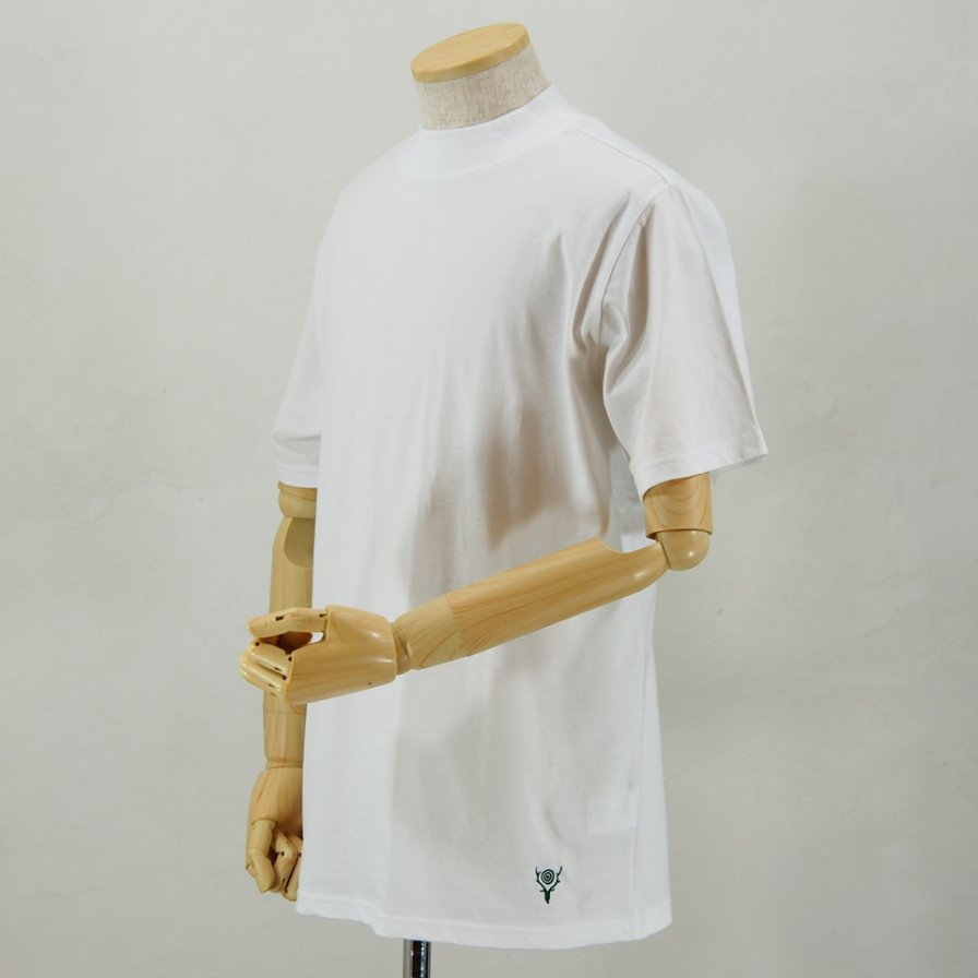 South2 West8Mock Neck S/S TeeCordura JerseyWhite