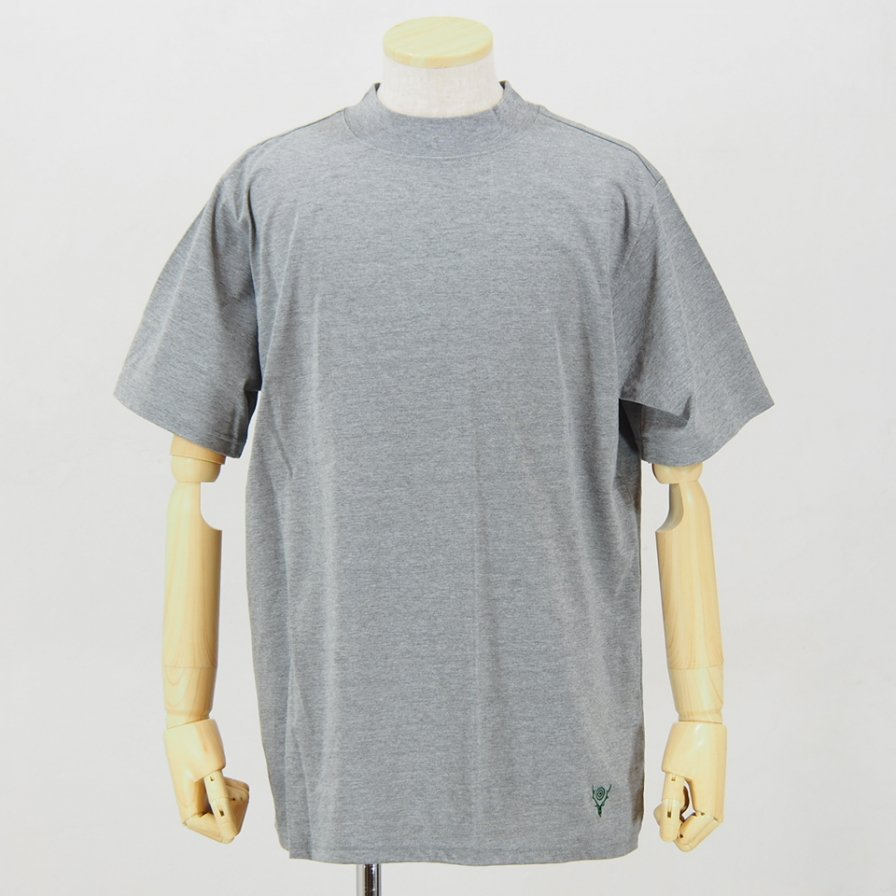 South2 West8Mock Neck S/S TeeCordura JerseyGrey