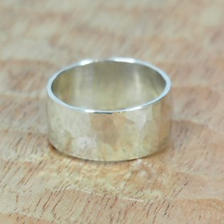 JILL PLATNERthick hammered band ring