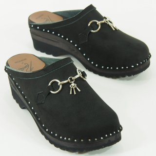 Needles×Troentorp - Swedish Clog - Suede / Bit - Black