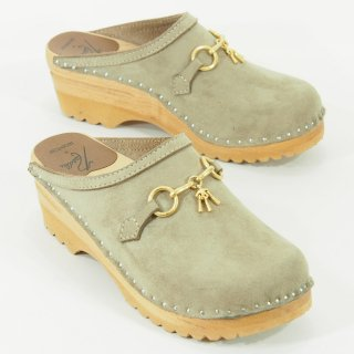 Needles×Troentorp - Swedish Clog - Suede / Bit - Beige