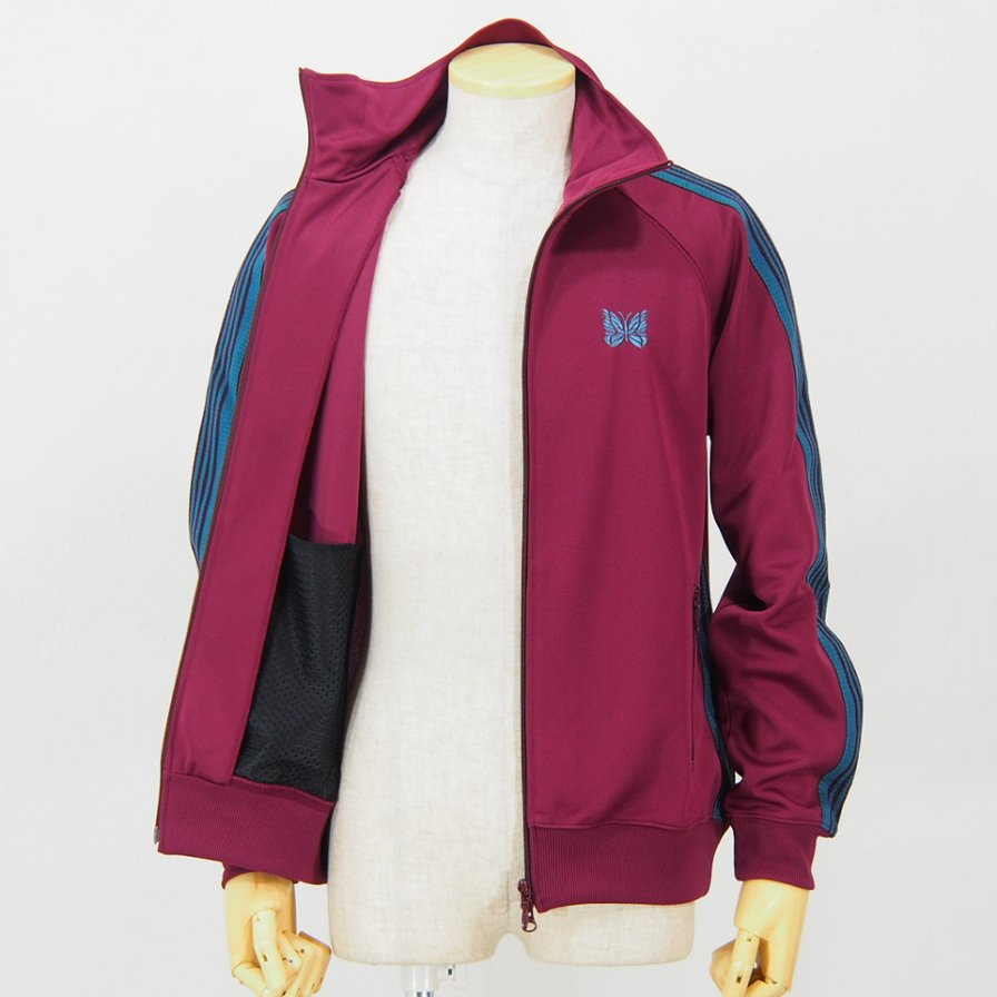 NeedlesTrack JacketPoly SmoothMaroon