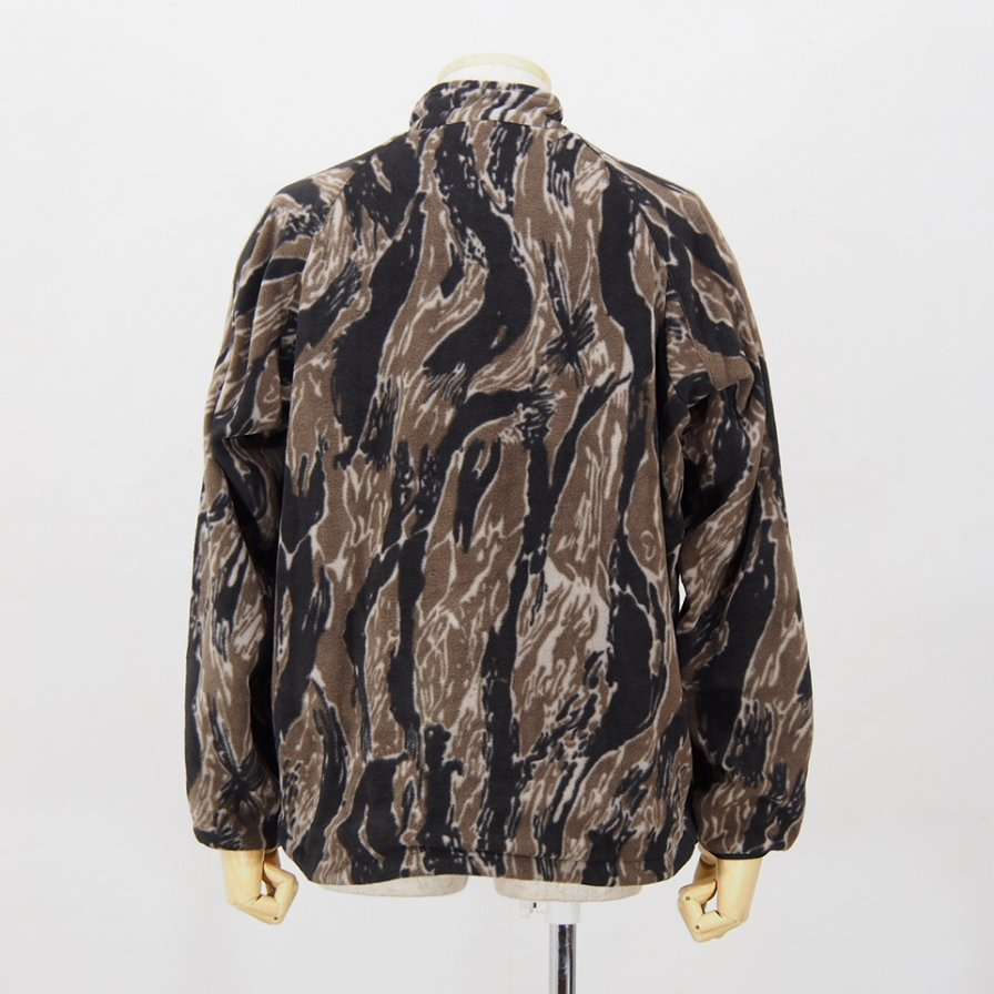 Needles SportswearWarm Up Stand Coller JacPoly FreeceTiger Camo StripeBrown