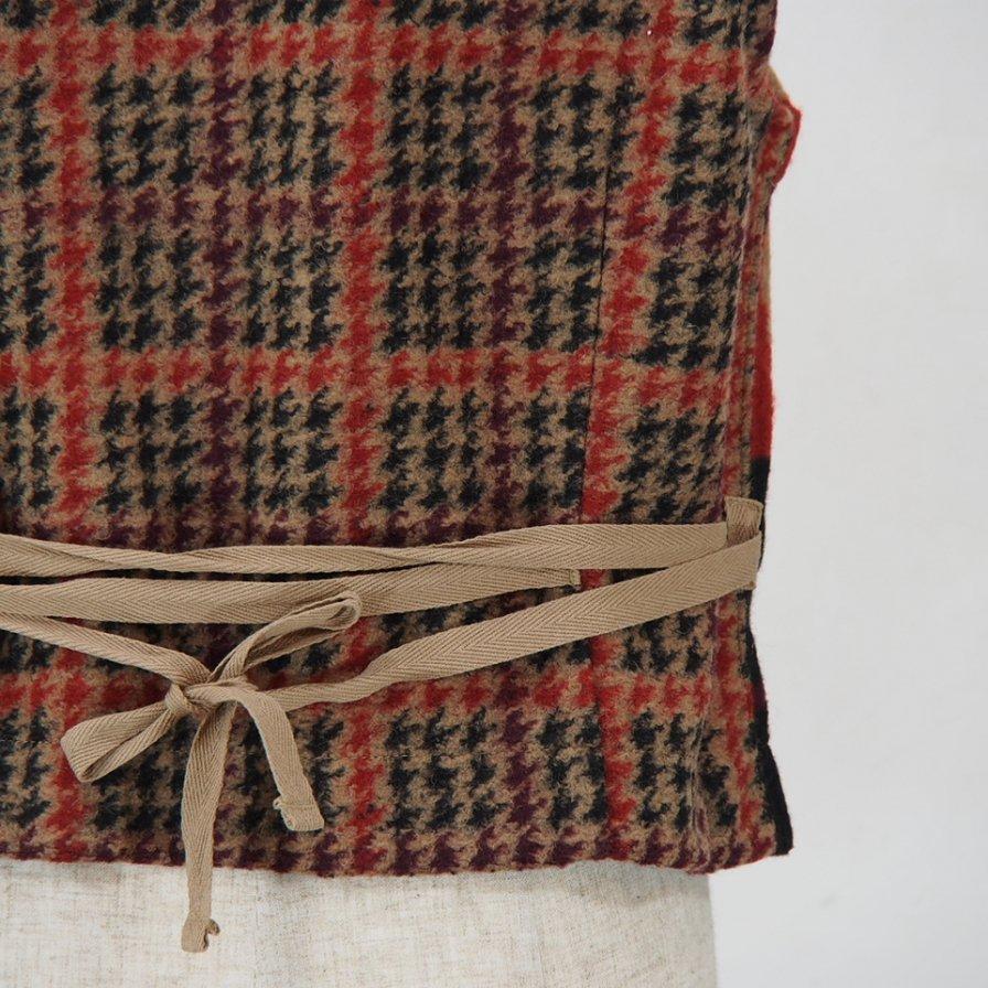 Engineered GarmentsKnit VestGun Club Multi Check KnitTan / Black