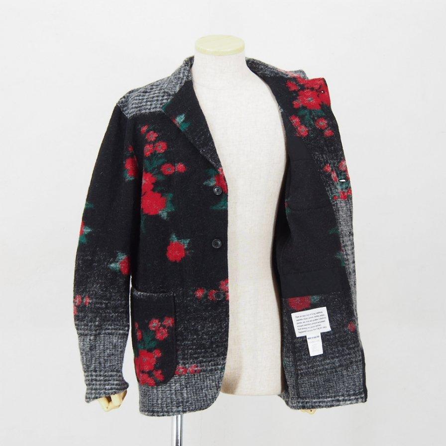 Engineered GarmentsKnit JacketFloral Glen KnitBlack/Red/Grey