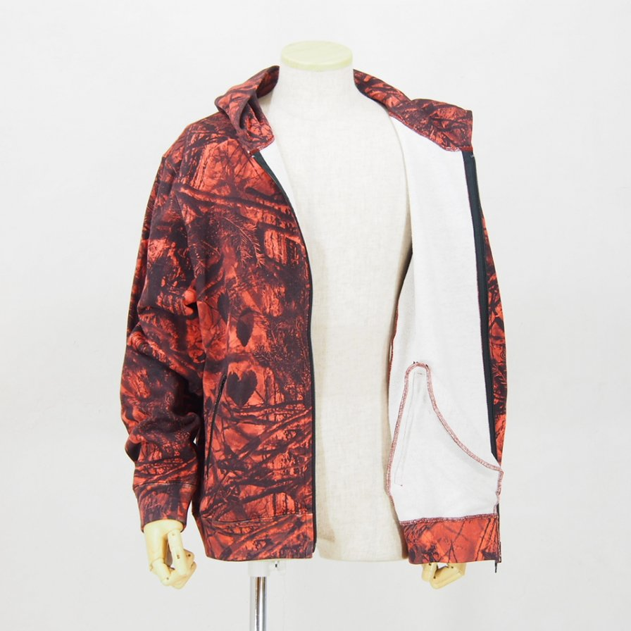 South2 West8 サウスツーウエストエイト - Zipped Sweat Hoody - S2W8 Camo - Cotton Jersey - Orange