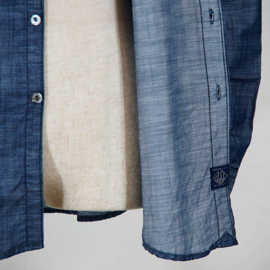 POST OVERALLS USA - The POST�-R L/S Shirt - Denim Blue