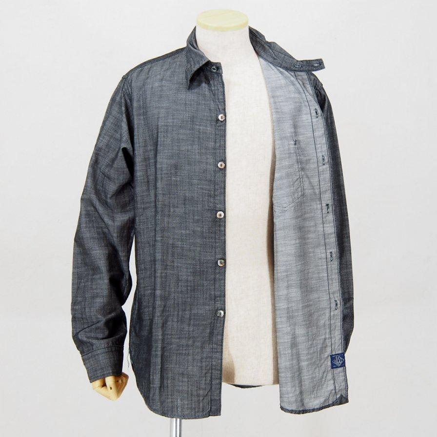 POST OVERALLS USA - The POST�-R L/S Shirt - Denim Black