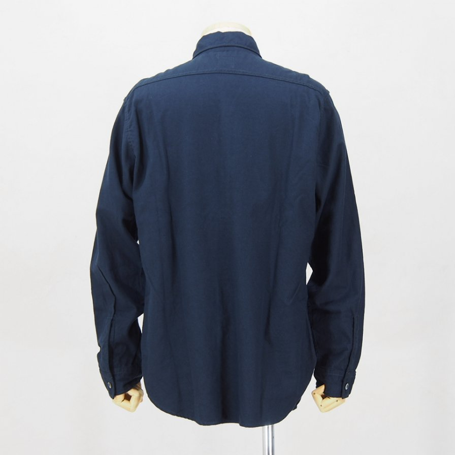POST OVERALLS USA - The POST�-R L/S Shirt - Cotton Tencel - Navy