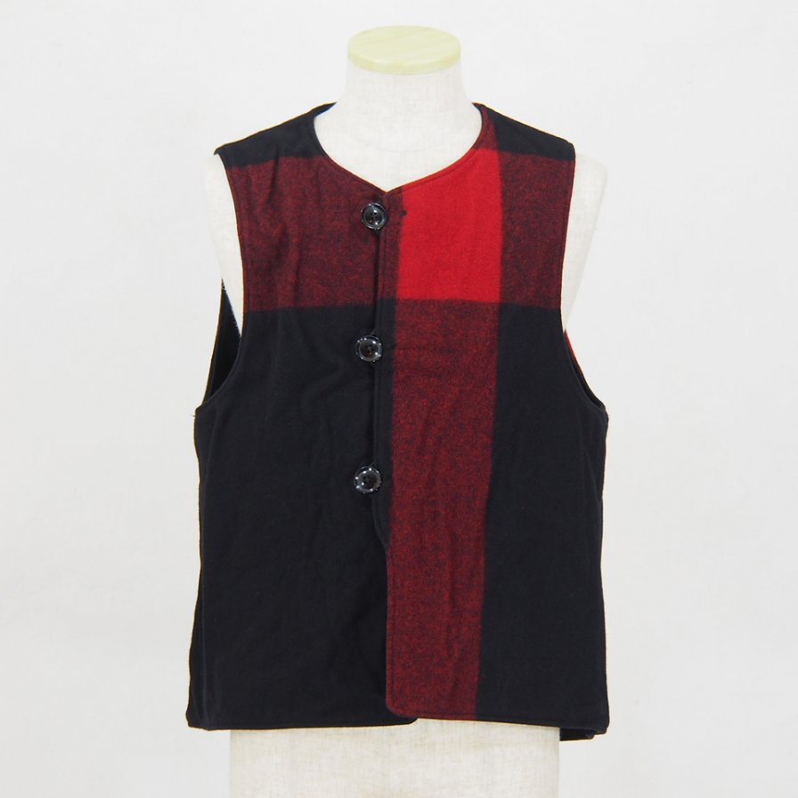 Engineered GarmentsOver VestPlaid / Cotton Double ClothBlack & Black