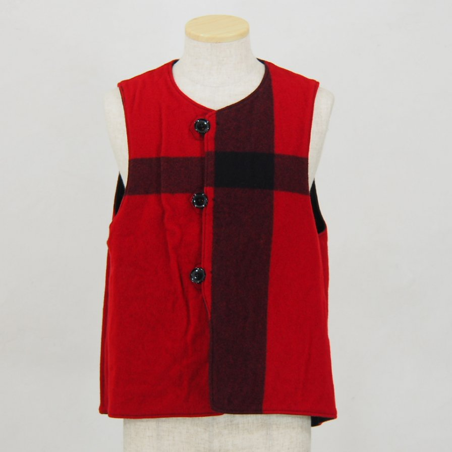 Engineered GarmentsOver VestPlaid / Cotton Double ClothBlack & Red