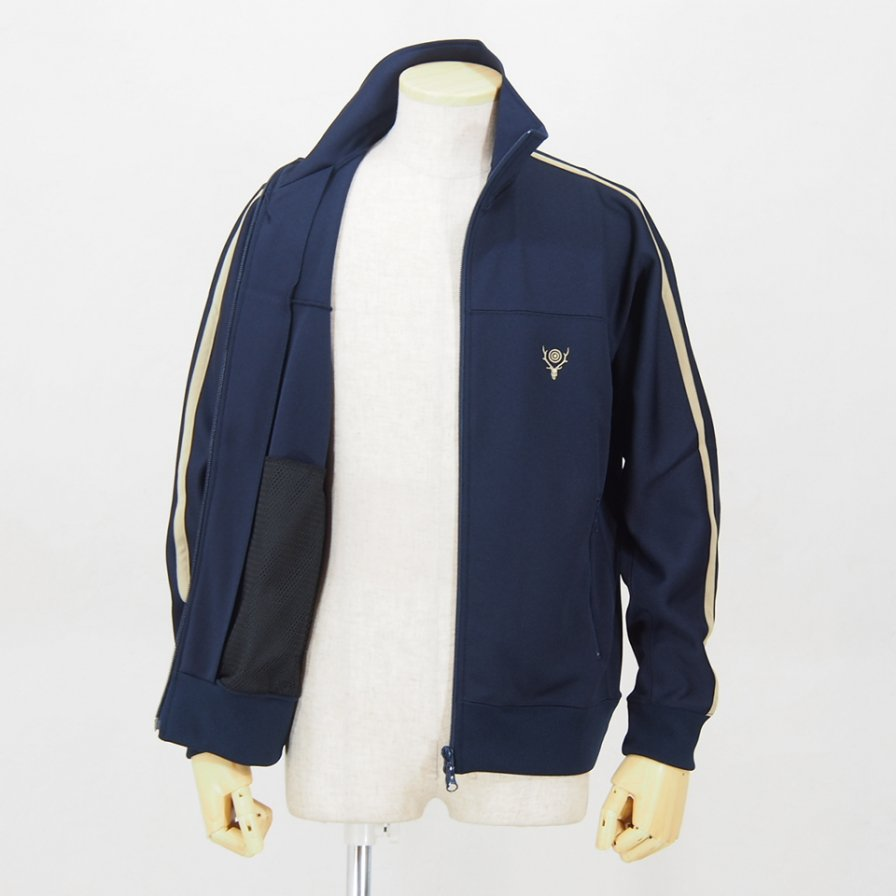 South2 West8Trainer JacketPoly SmoothNavy