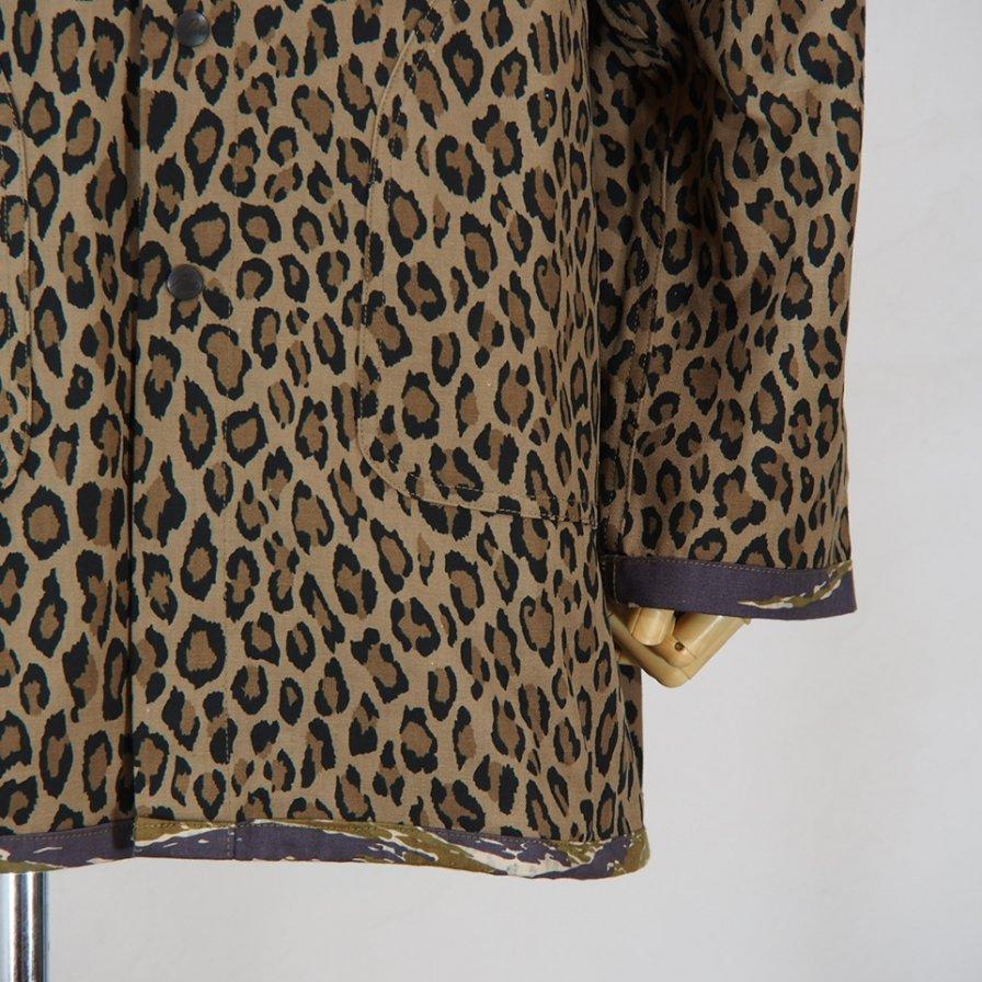 NeedlesReversible Bush ParkaCotton HerringbonePrint LeopardPrint Tiger Camo