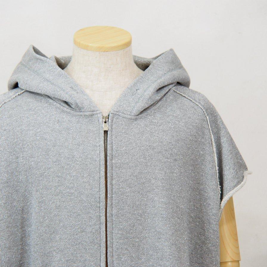 Needles - Cut Off Sweat Hoody - C/Pe/N Lame Jersey - Grey/Silver