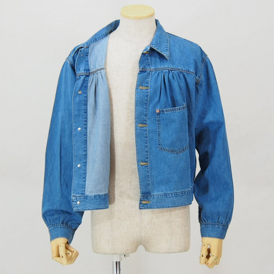 Needles - Gathered Jean Jacket -  7oz C/T Denim - Indigo