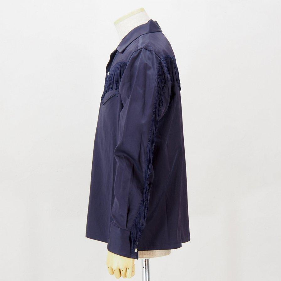 Needles - Fringe Cowboy Shirt - R/C Twill Sateen - Purple
