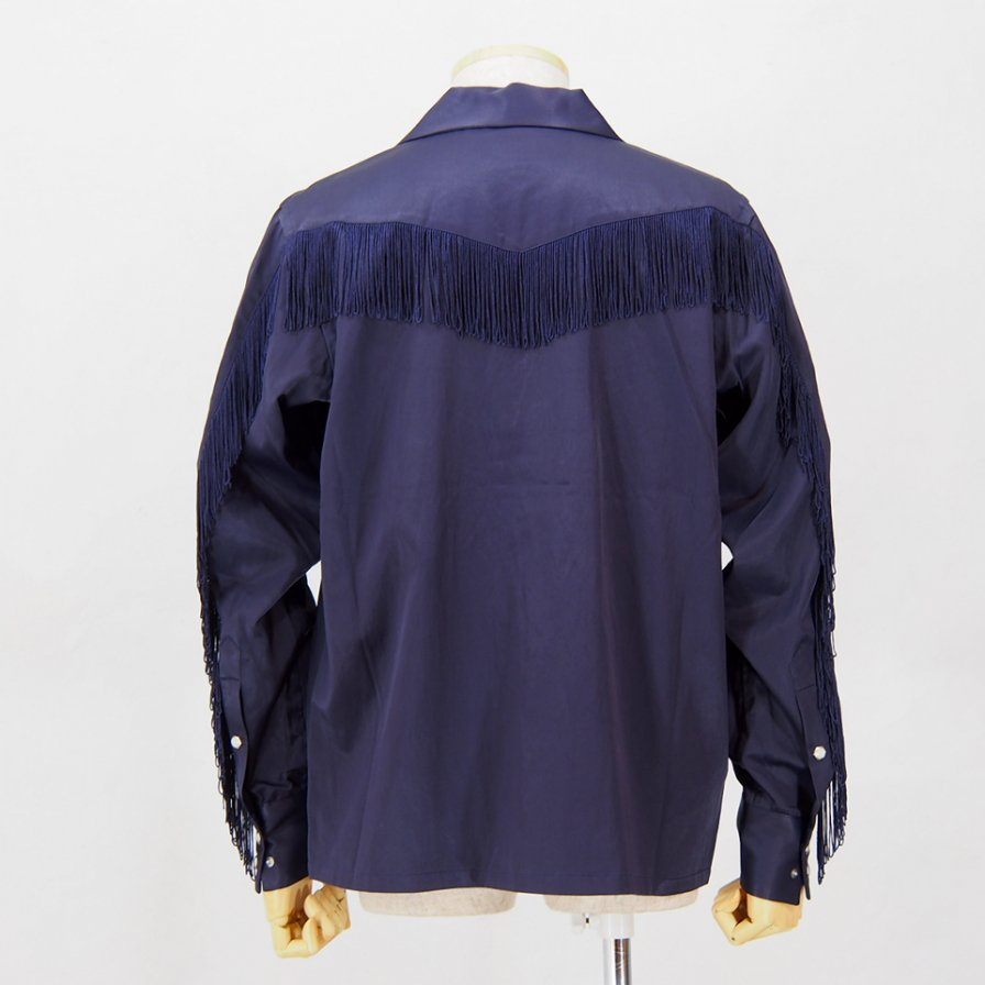 Needles - Fringe Cowboy Shirt - R/C Twill Sateen - Purple