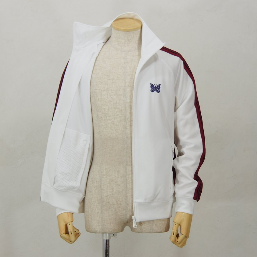 Needles - Track Jacket - Poly Smooth - White