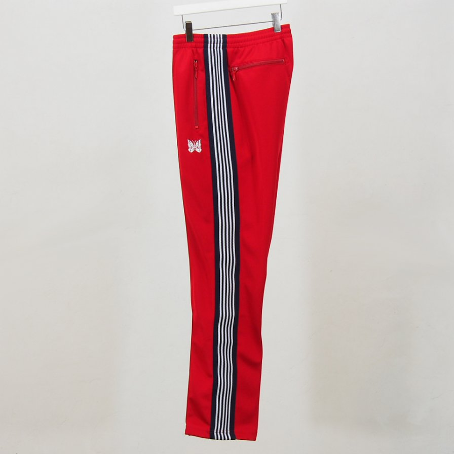 Needles - Narrow Track Pant - Poly Smooth - Red