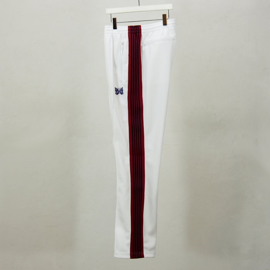 Needles - Narrow Track Pant - Poly Smooth - White