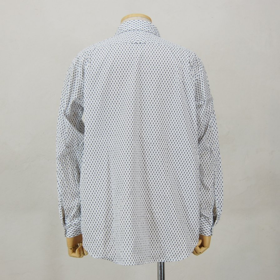 Engineered Garments - Short Collar Shirt - Seahorse Print
