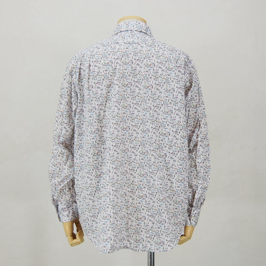 Engineered Garments - Short Collar Shirt - Beach Print