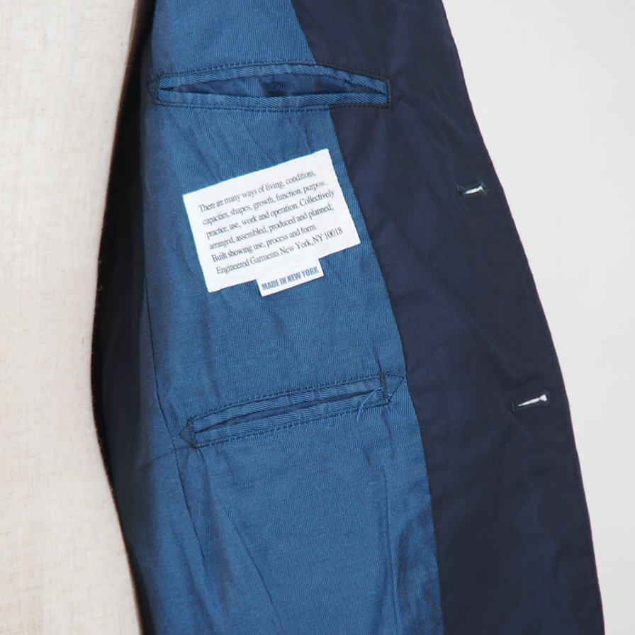 Engineered Garments - Andover Jacket -  High Count Twill - Dk.Navy