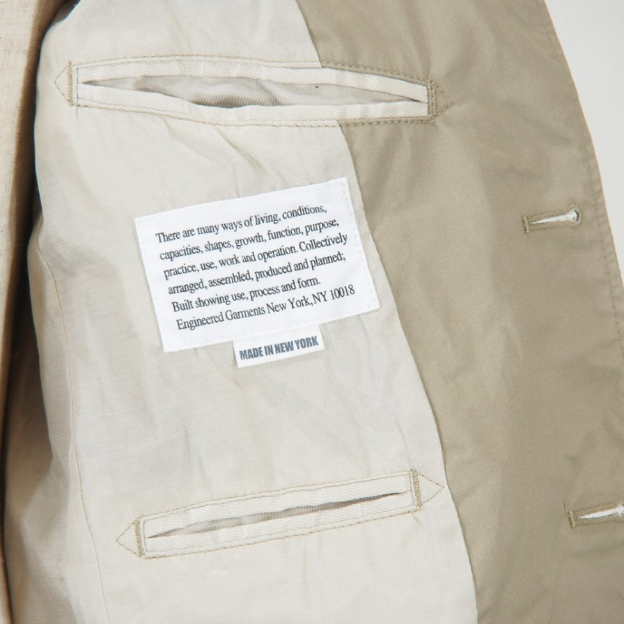 Engineered Garments - Andover Jacket -  High Count Twill - Khaki