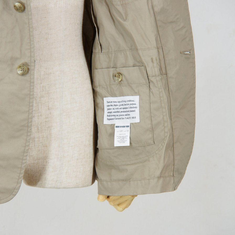 Engineered Garments - NB Jacket -  High Count Twill - Khaki
