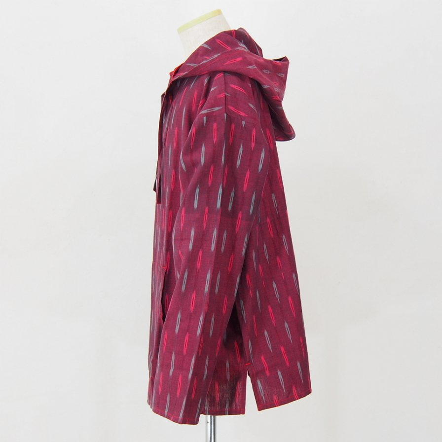 South2 West8 - Mexican Parka - Cotton Cloth / Splashed Pattern - Red