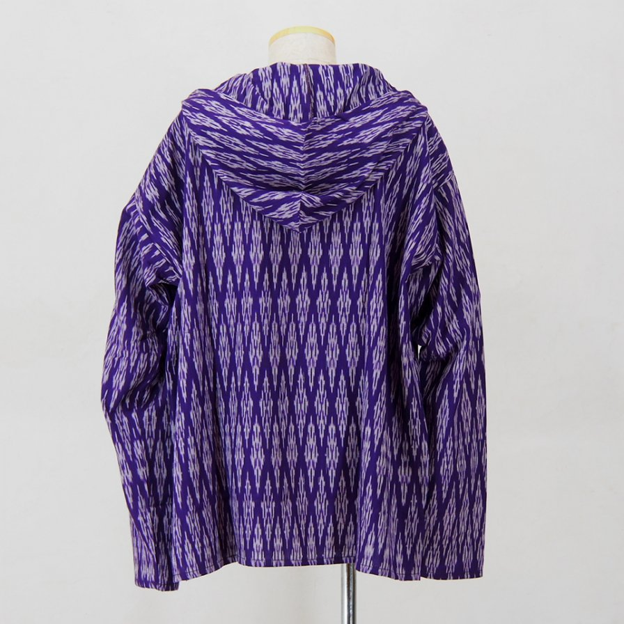 South2 West8 - Mexican Parka - Cotton Cloth / Splashed Pattern - Purple