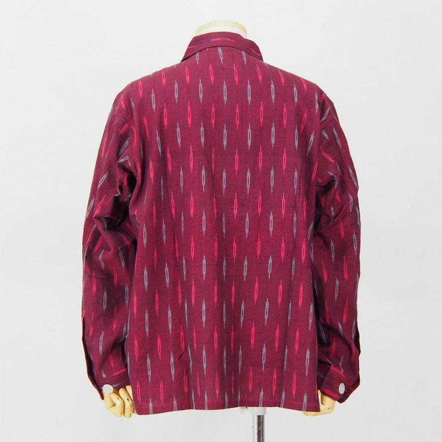 South2 West8 - Smokey Shirt - Cotton Cloth / Splashed Pattern - Red