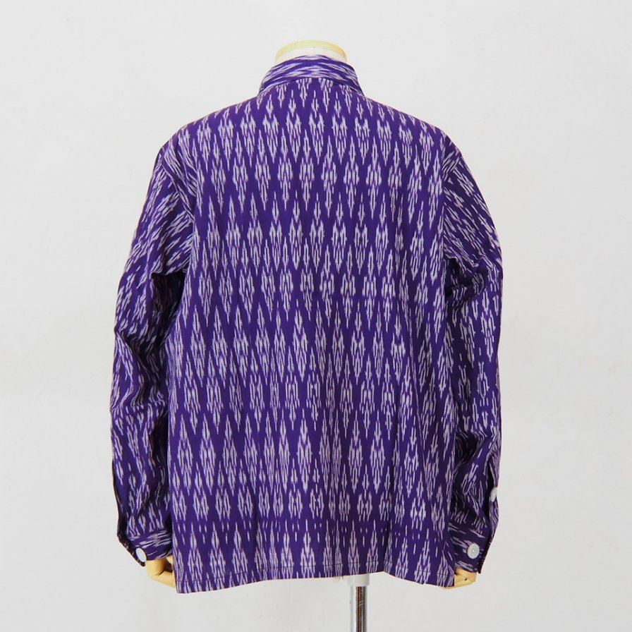 South2 West8 - Smokey Shirt - Cotton Cloth / Splashed Pattern - Purple