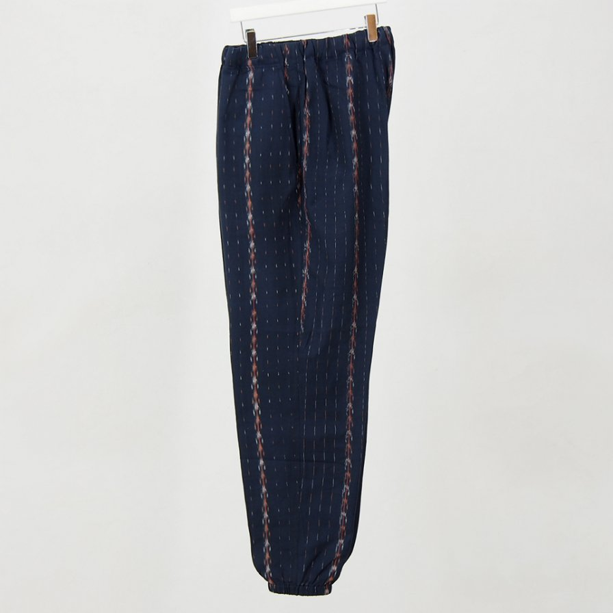 South2 West8 - String Slack Pant -  Cotton Cloth / Saplashed - Navy