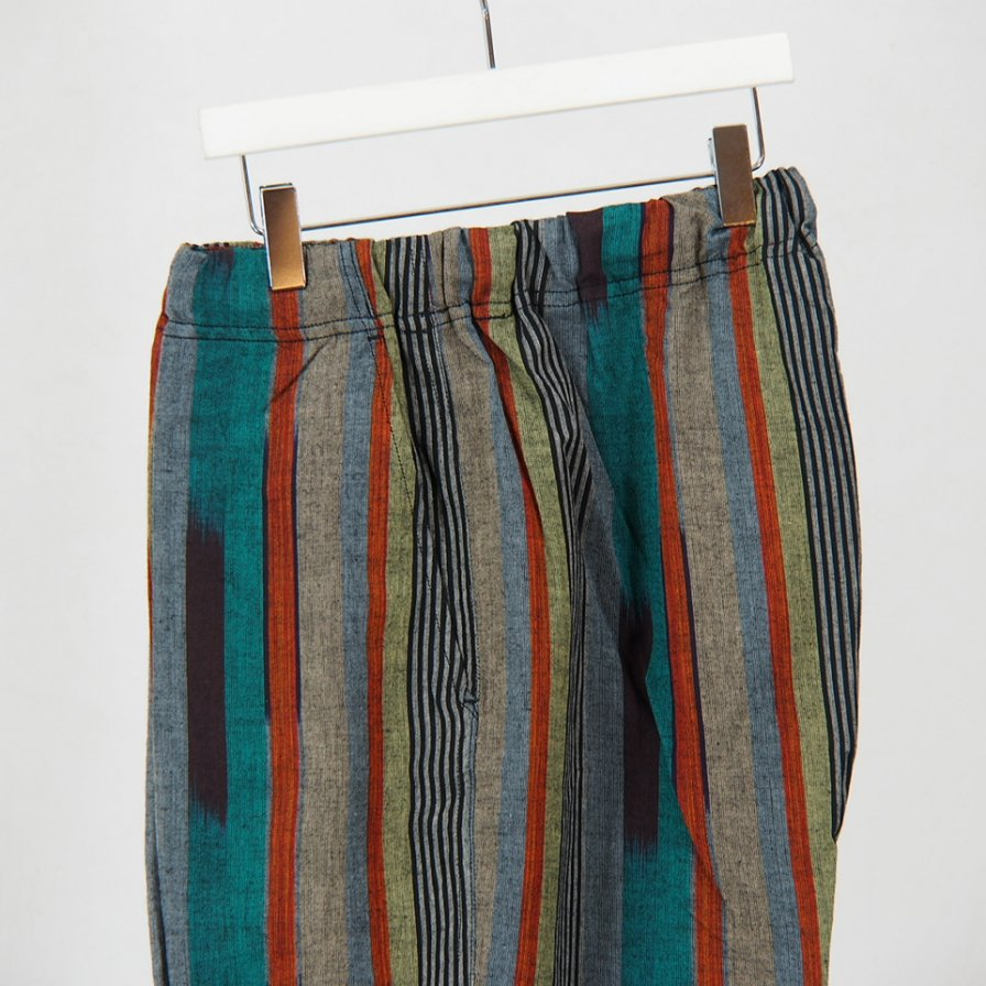 South2 West8 - String Slack Pant -  Cotton Cloth / Saplashed - Gry/Ppl/Org