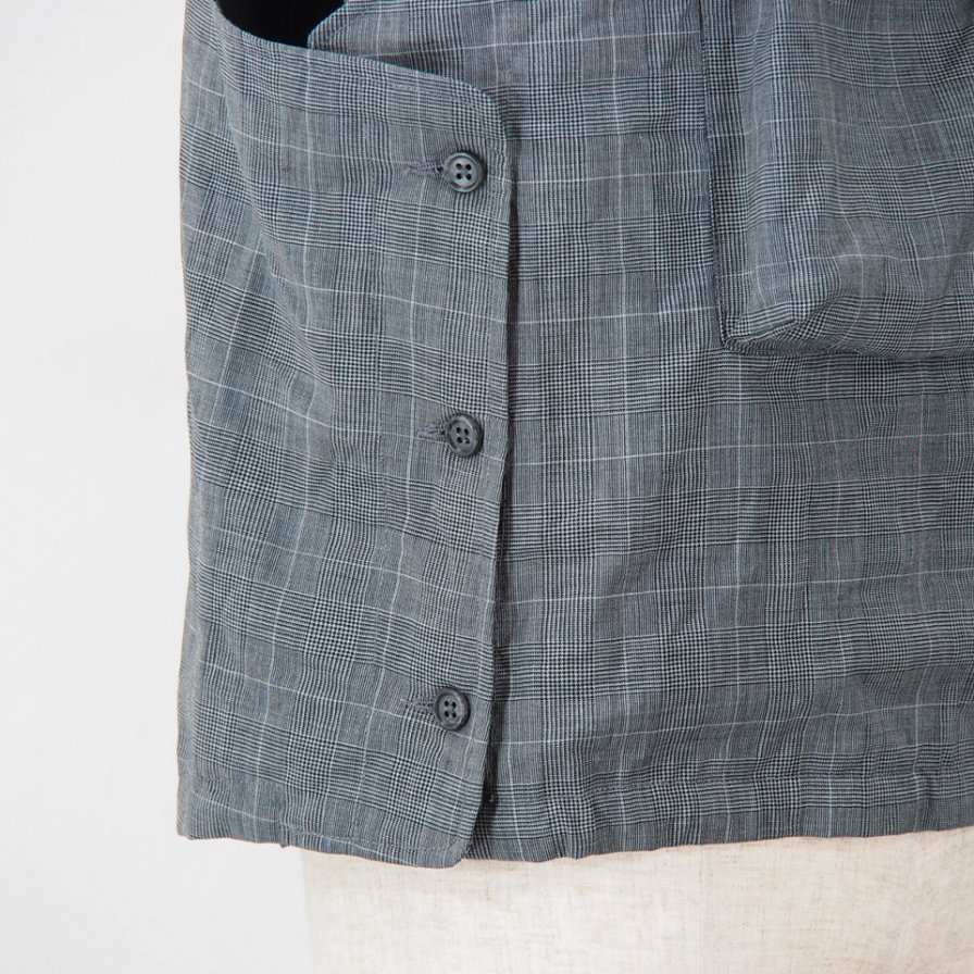 Engineered Garments - Cover Vest - Tropical Wool Glen Plaid - Grey